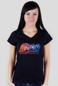 Koszulka z żużlowcami, damska, dekolt V-ka