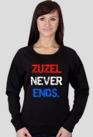 """Bluza """"Zuzel never ends."""", damska"""