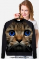 MELO PL - Bluza Kot z niebieskimi oczkami