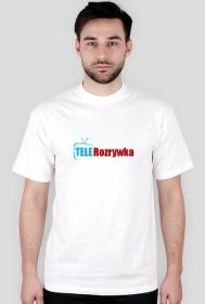 """Koszulka """"Tele Rozrywka"""" (biała)"""