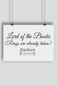 "Plakat ""Lord of the Books"""
