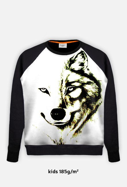kimoosiosklep- bluza dziecięca wilk
