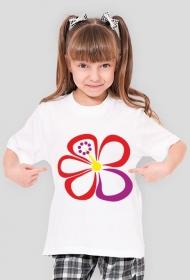 Hibiskus. Koszulka dziewczęca