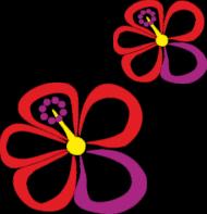 Hibiskus. Torba bawełniana