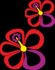 Hibiskusy. Kubek z kolorowym uchem