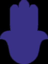 Ręka Fatimy Blue-Violet. Koszulka dziewczęca