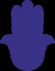 Ręka Fatimy Blue-Violet. Bluza damska z kapturem