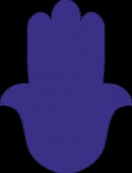 Ręka Fatimy Blue-Violet. Kubek z kolorowym uchem