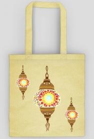 Lampa arabska. Torba bawełniana