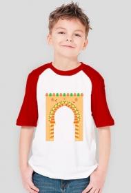 Brama do medyny. Koszulka chłopięca z kolorwymi rękawami