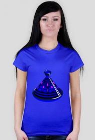 Blue Tajine. Prosty T-Shirt damski