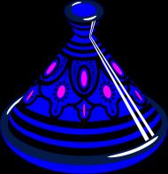 Blue Tajine. Torba bawełniana