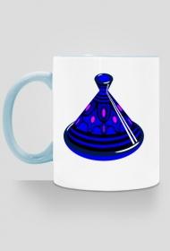 Blue Tajine. Kubek z kolorowym uchem