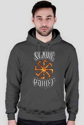 Ognista Bluza Slavic Power Słowiańska Siła Kołowrót Symbol Kolovrat Hoodie