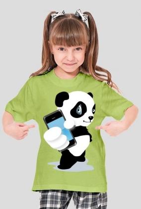 koszulka dziecięca - Panda - STYLOWAKOSZULA.CUPSELL.PL – KOSZULKI I KUBKI NA PREZENT, NIETYPOWE I SMIESZNE KOSZULKI