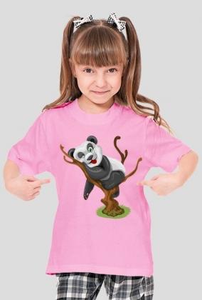 Koszulka dziecięca - Panda na drzewie - STYLOWAKOSZULA.CUPSELL.PL – KOSZULKI I KUBKI NA PREZENT, NIETYPOWE I SMIESZNE KOSZULKI