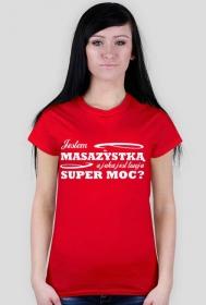 Koszulka, masazystka, czerwona