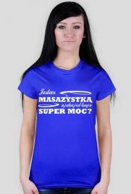 Koszulka, masażystka, niebieska