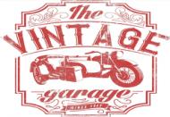 Plecak, nadruk: motocykl z wózkiem bocznym, napis Vintage garage