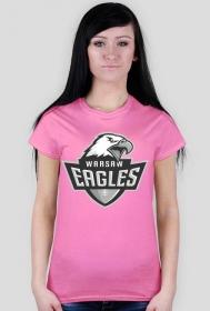 Koszulka WE damska różowa