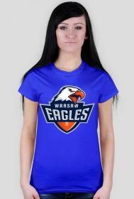 Koszulka WE damska niebieska