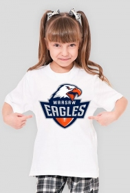 Koszulka WE dziewczęca biała
