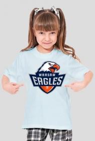 Koszulka WE dziewczęca błękitna
