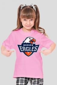 Koszulka WE dziewczęca różowa