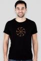 T-shirt słowiański kołowrót, męski 1 slim