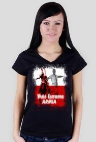 """Koszulka """"Biało Czerwona ARMIA"""" Damska"""