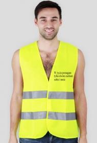 koszulka odblaskowa pomaganie