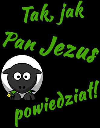 KOSZULKA Tak, jak Pan Jezus powiedział! - męska