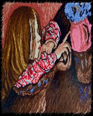 Del & S - Dziewczynka z wazonem z kwiatkami