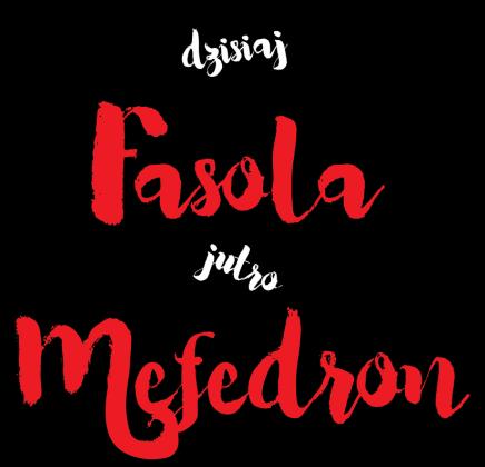 Koszulka wegańska/wegetariańska: dzisiaj fasola jutro mefedron