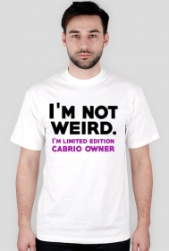 t-shirt I'm not weird