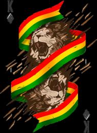 Reggae Lion King T-shitr - Koszulki w Space Balls