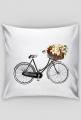 poszewka z rowerem