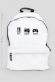 Biały plecak GRACZ 1