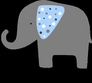 Poszewka na poduszkę słoń szary
