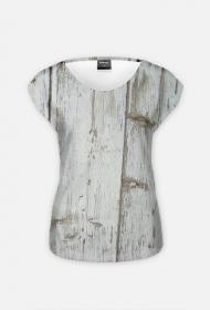 "Koszulka Full Print ""Stare drewno"""