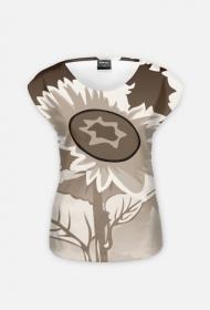 """Koszulka Full Print """"Sunflower w sepii"""""""