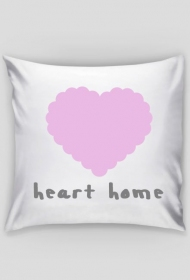 """Poszewka na poduszkę """"Heart home"""""""