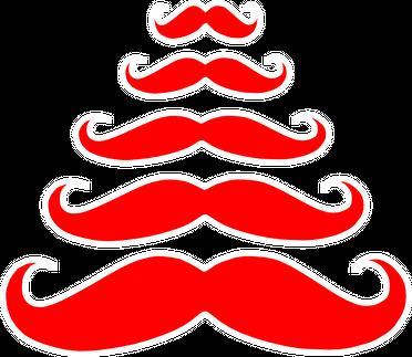 """Kubek """"Choinka wąsy"""""""