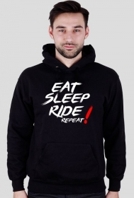 Motomass- Bluza z Kapturem EAT SLEEP RIDE REPEAT