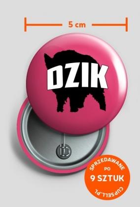 Przypinka metalowa DZIK 9 szt.