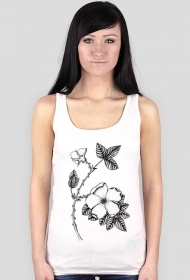 Kwiat dzika róża - koszulka bokserka