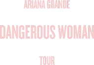 "Koszulka męska czarna ""Dangerous Woman Tour: Setlist"""
