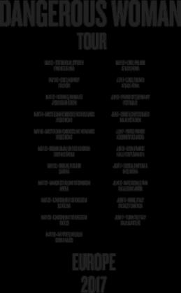 """Bluza damska biała """"Dangerous Woman Tour: Europe"""""""