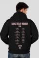 "Rozsuwana bluza uniseks z kapturem ""Dangerous Woman Tour: Europe"""