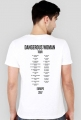 "Koszulka męska biała ""Dangerous Woman Tour: Europe"""